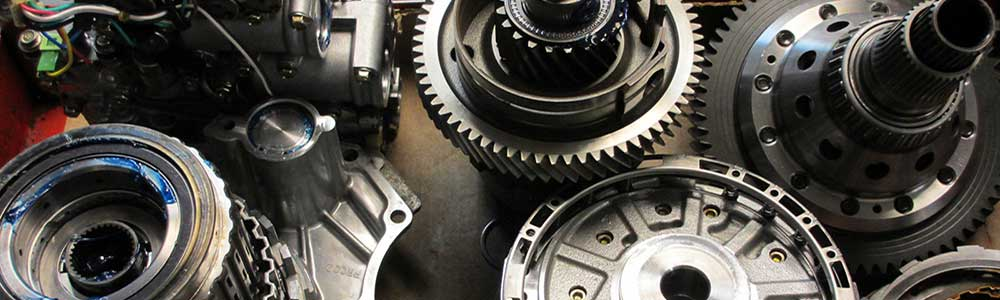 close up view of mechanical gear parts